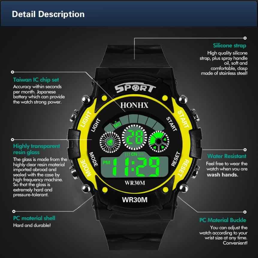 LED גברים אנלוגי דיגיטלי צבאי צבא גברים שעונים ספורט עמיד למים שעון יד עסקי Relogio Masculino מזדמן Saat מתנה