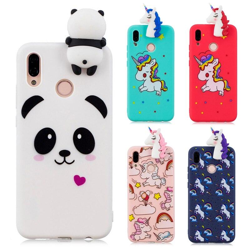 3D Cartoon Cute Panda Unicorn Red Horse Soft Silicone Cover For Coque Huawei P20 Lite Case For Huawei Nova 3E Etui Hoesjes