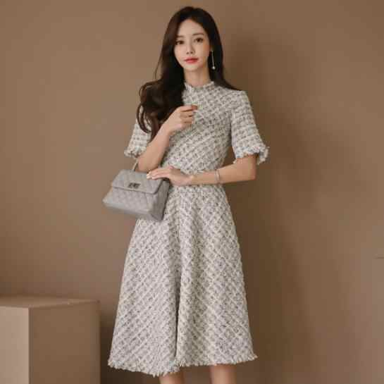 women 2019 Summer formal dress Office slim comfortable temperament trend sweet vintage party a-line dress DV37