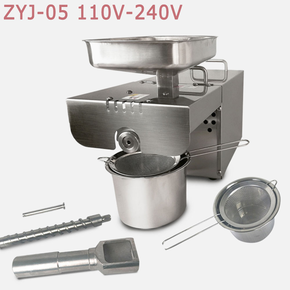 Free shipping Home oil presser pressing machine / cooking oil making machine price for h ...
