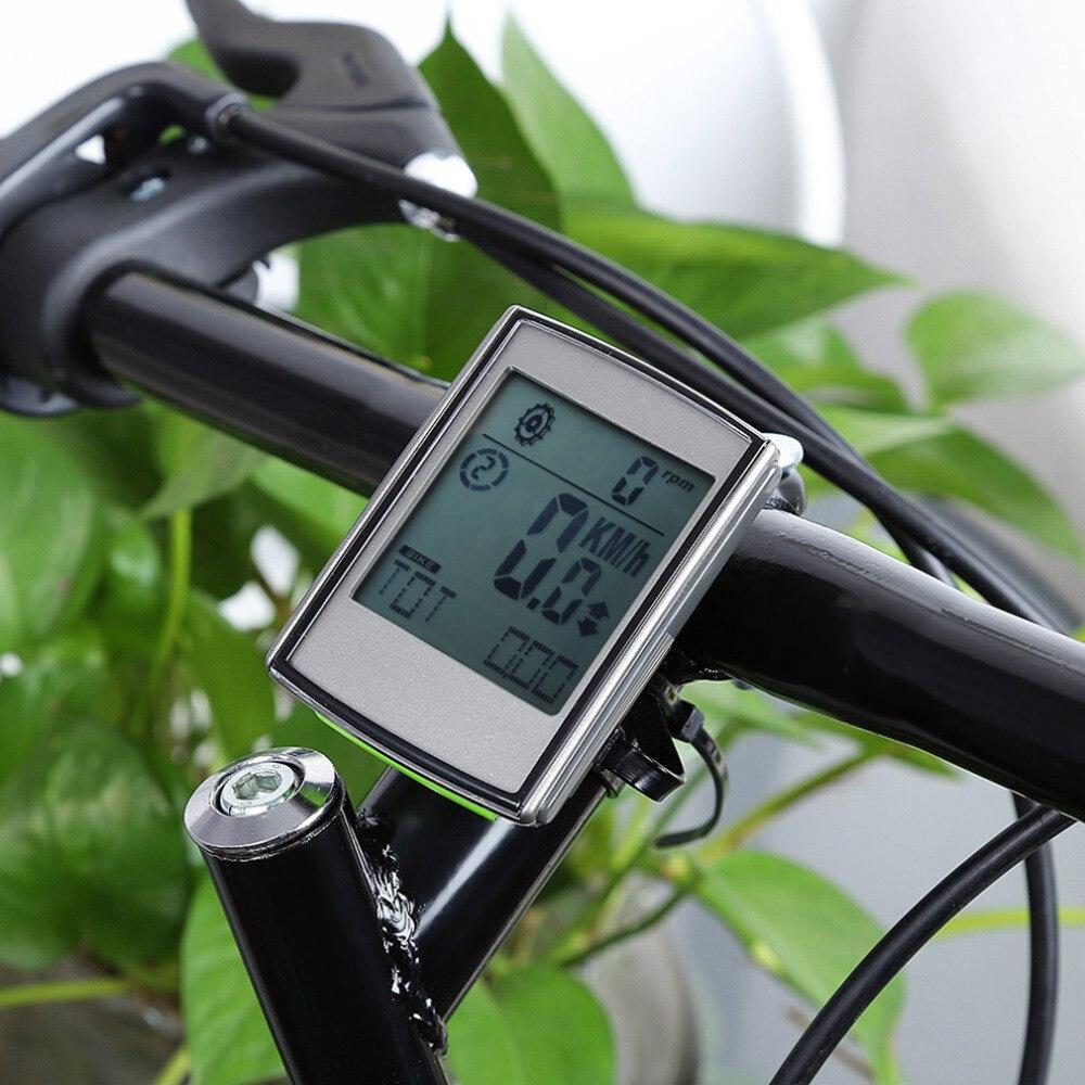 2 in 1 Cycling Computer Con Cadenza Frequenza Cardiaca Monitor Senza Fili del calcolatore Della Bici Del Tachimetro Display LCD