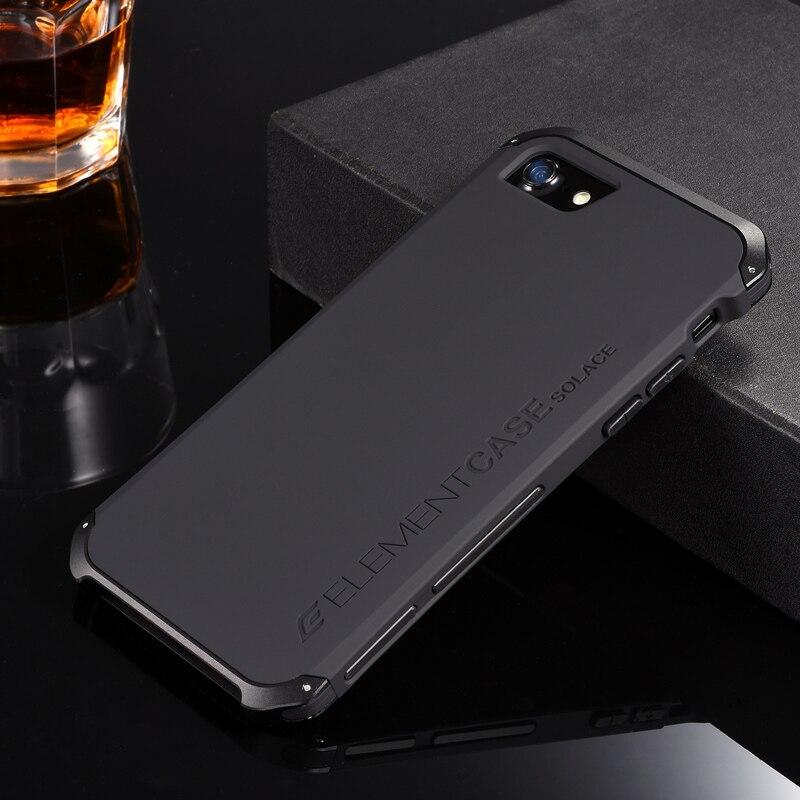 Para iphone 7 lujo elemento teléfono casos con diseño de aluminio y PC caso para Samsung s7 s8 s8 plus xiaomi 6 huawei p10