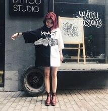 Women summer patchwork hip hop punk t shirt oversized tee shirts couple harajuku casual streetwear korean fashion tops clothes