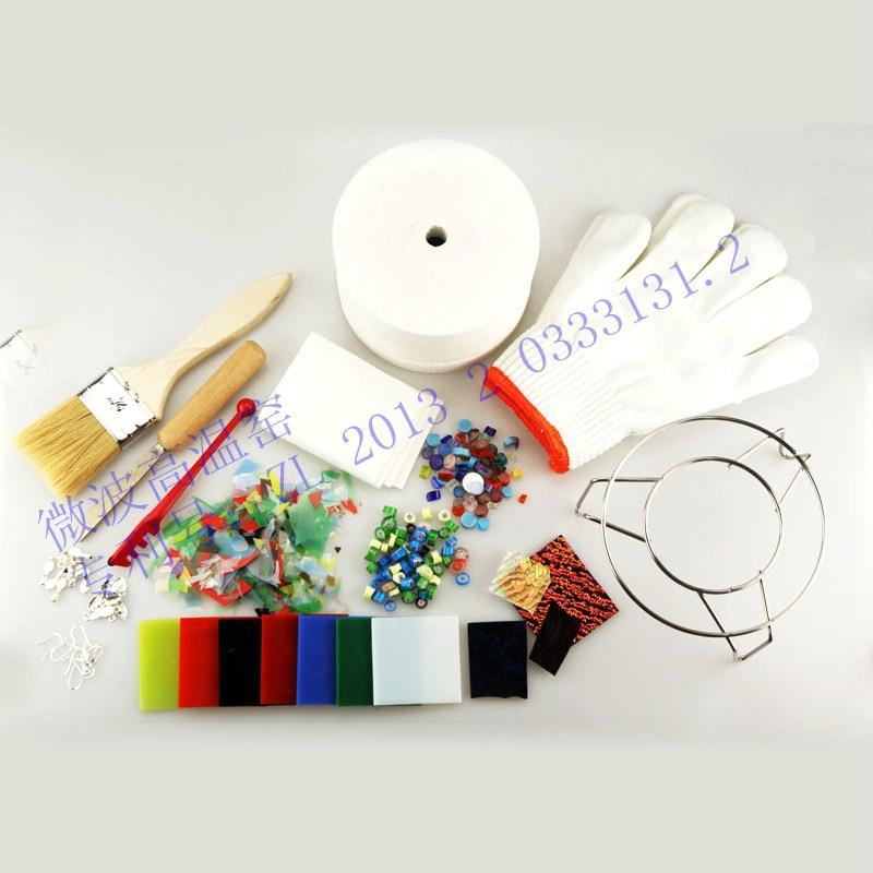 Full 15 Pcs/set Economic New Glass Jewelry Tool Small Glass Microwave Kiln Fusing Glass DIY Jewelry Making Art Work Fuseworks