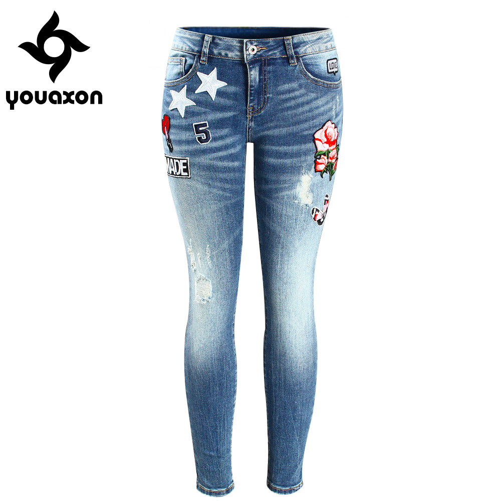 Aliexpress buy youaxon embroidery flower patch