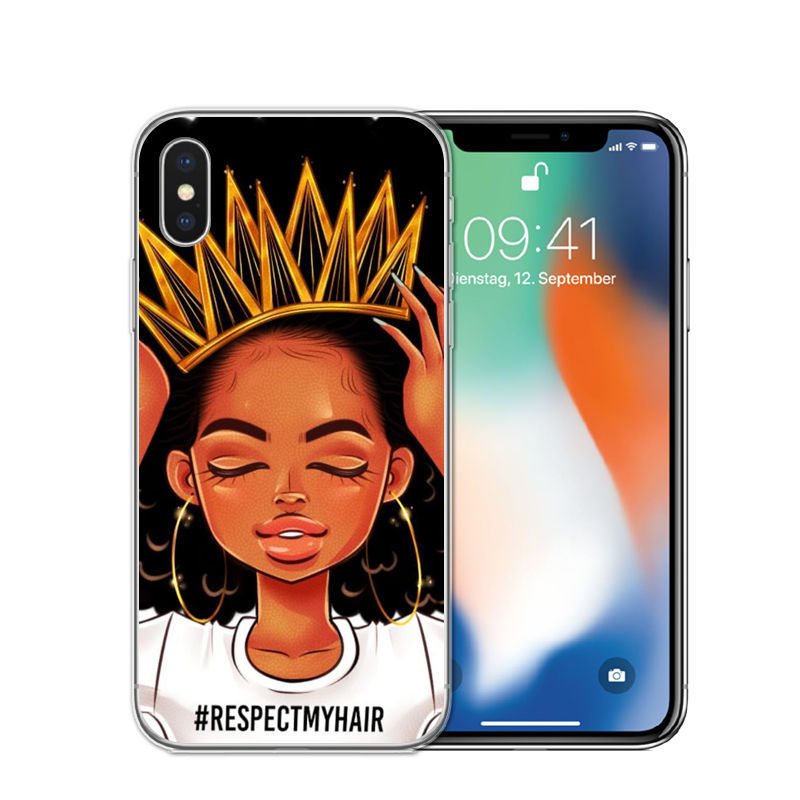 Fun Melanin Soft Silicone Phone Cases for iPhones 1