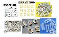 Orden de compra-8mm letras de la diapositiva, encantos de la diapositiva, llaveros, pulsera