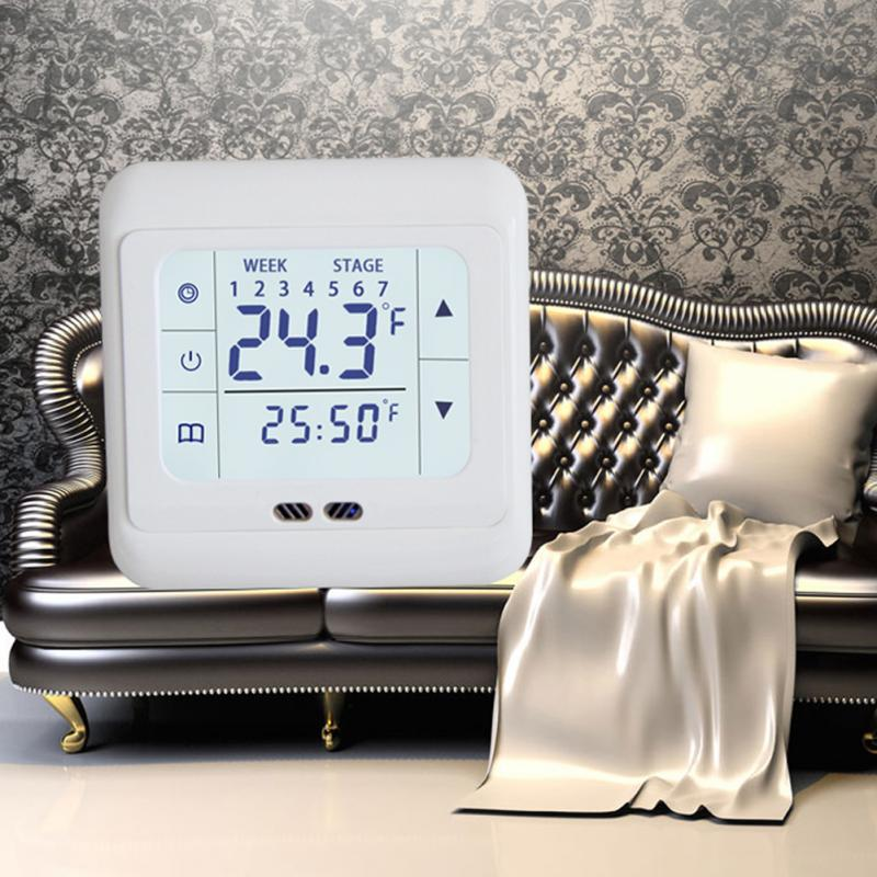 1pc Home Thermoregulator Touch Screen Heating Temperature Controller Thermostat for Warm Floor Electric System