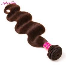 Aphro Hair Brazilian Body Wave 1 Piece Non-Remy Hair Bundles Light Brown Color 100% Human Hair Extensions 8″-28″ Free Shipping