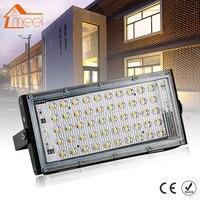 Светодиодный прожектор 50 Вт наружный прожектор водонепроницаемый IP65 Настенный отражатель освещение 220 в 240 В уличная лампа прожектор
