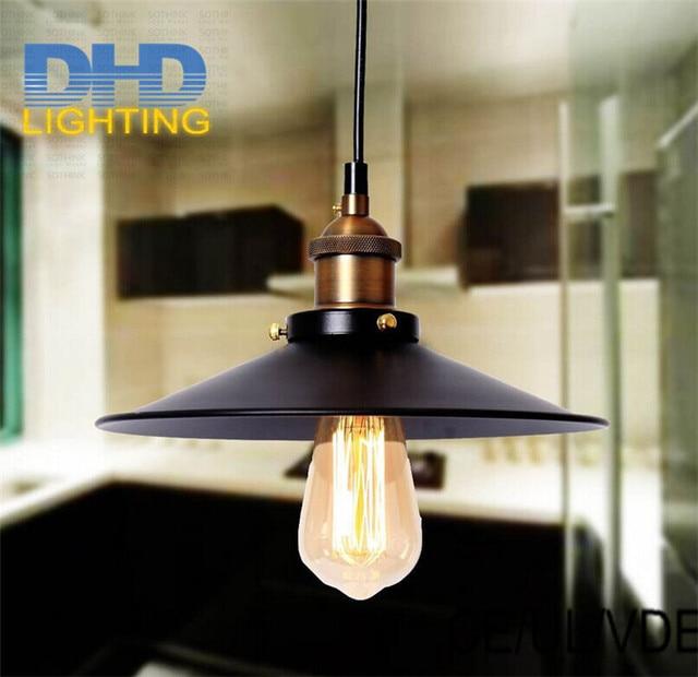 Free shipping 220mm diameter hot-selling black iron edison pendant lamp industrial metal edison lighting fixture