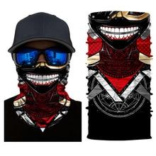 Balaclava 3D Cachecol Magia Do Motor ao ar livre Esporte Máscara Facial Protetor Solar Motocicleta Cachecóis Crânio Headband Bandana Masque
