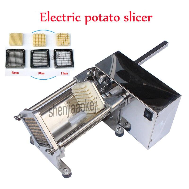 Электрический Резак для картофеля из нержавеющей стали коммерческий хрустящий картофель фри производитель огурцов, редис, машинка для чис...