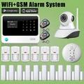 chuangkesafe 2016 G90B WIFI GSM Android/IOS APP Home Alarm Intruder Burglar+Door Gap Sensor