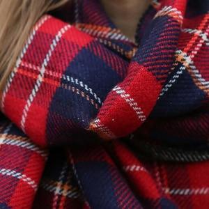 Image 3 - [FEILEDIS]Women Cashmere Scarves  Long Wraps Scarf Autumn Scarf England Classic Plaid Scarve