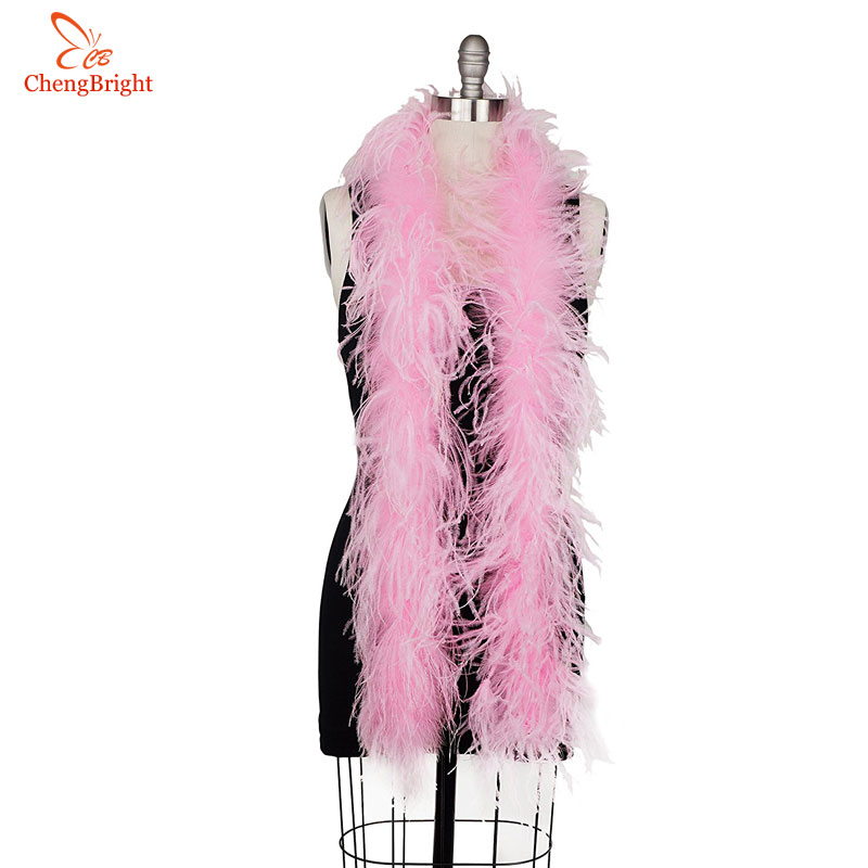 Rose Pink 2ply Economy Ostrich Feather Boa