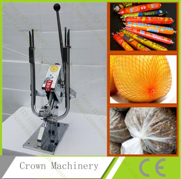 U shape Double Sausage clipping machine sausage clipper machine plastic bag fruit bag sausage clipper