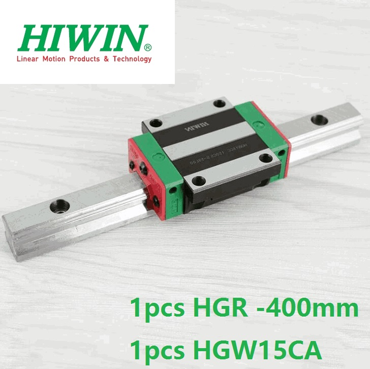 все цены на 1pcs 100% original Hiwin linear guide rail HGR15 -L 400mm + 1pcs HGW15CA HGW15CC linear flange carriage block cnc router онлайн