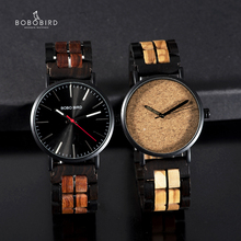 relogio masculino BOBO BIRD 2019 New Design Simple Stylish Men Watch Accept Customized Wooden Gift Box