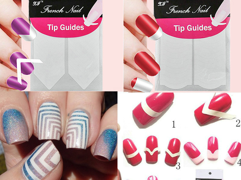 1pc Nails Sticker Nail Art Decals French Manicure Form Fringe Tips Guide DIY Styling Beauty Tools