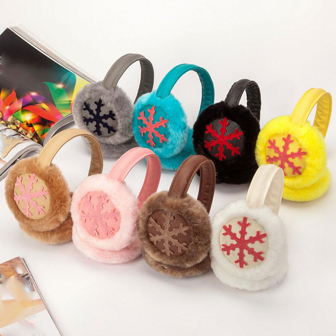 Charming Women Fashion Winter Music Earmuff Headphones Fur Plush Warm Earmuffs Music Earphones Protector Fur Warmers