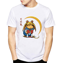 Sailor Bunny moon T-Shirt men 2018 Summer Fashion Funny tshirt casual white print t shirt for male comfortable boy top tees