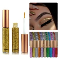 10 Colors Set Glitter Eyeliner Eye Cosmetic Liquid Waterproof Long Wear Shiny Eye Liner Makeup Natural