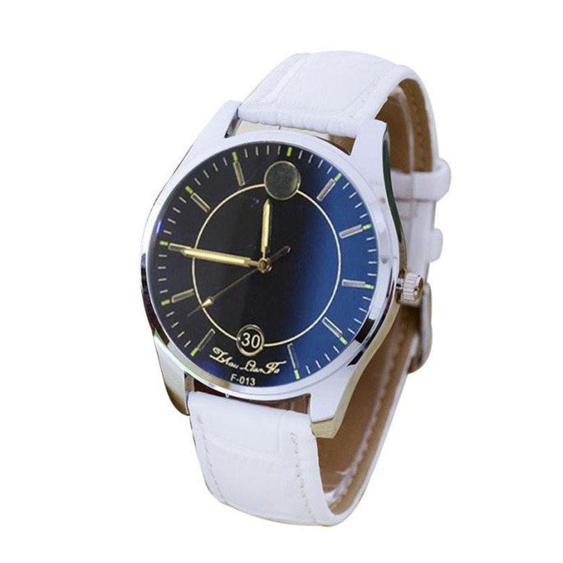 2018 Fashion New Pattern Leather Band Analog Quartz Vogue relogios Watch men Gentleman Casual Simple sport watch Gifts F80