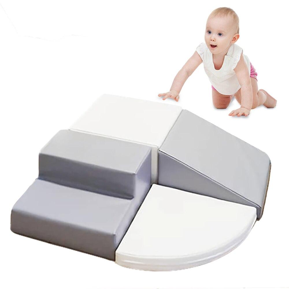 Bébé gymnases motricité apprentissage précoce développer jeu de mousse jeu escalade ramper enfants tout-petits glisser scène coin Structure jouet préscolaire