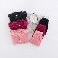 2017 Winter Autumn Children Girl Clothing Set Baby Girls Sports Cartoon Rabbit Embroidery Costume Kids Clothing