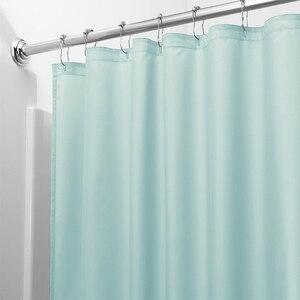 Image 3 - אור מוצק פוליאסטר וילון מקלחת טחב עמיד אמבט וילון לhotal עמיד למים טרי עמיד אמבטיה מחיצת וילון