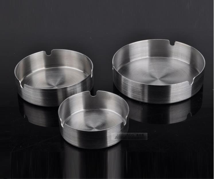 Household Merchandises Ashtrays Stainless steel round ashtray 3pcs/lot free shipping
