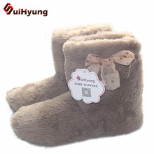 Suihyung Winter Warm Women Indoor Shoes Cotton padded Shoes Botas Plush Thick font b Home b