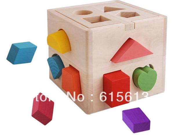 FREE Shipping,2013 New Child toys,Hot Sale,Wooden Educational toys geometric blocks JM003