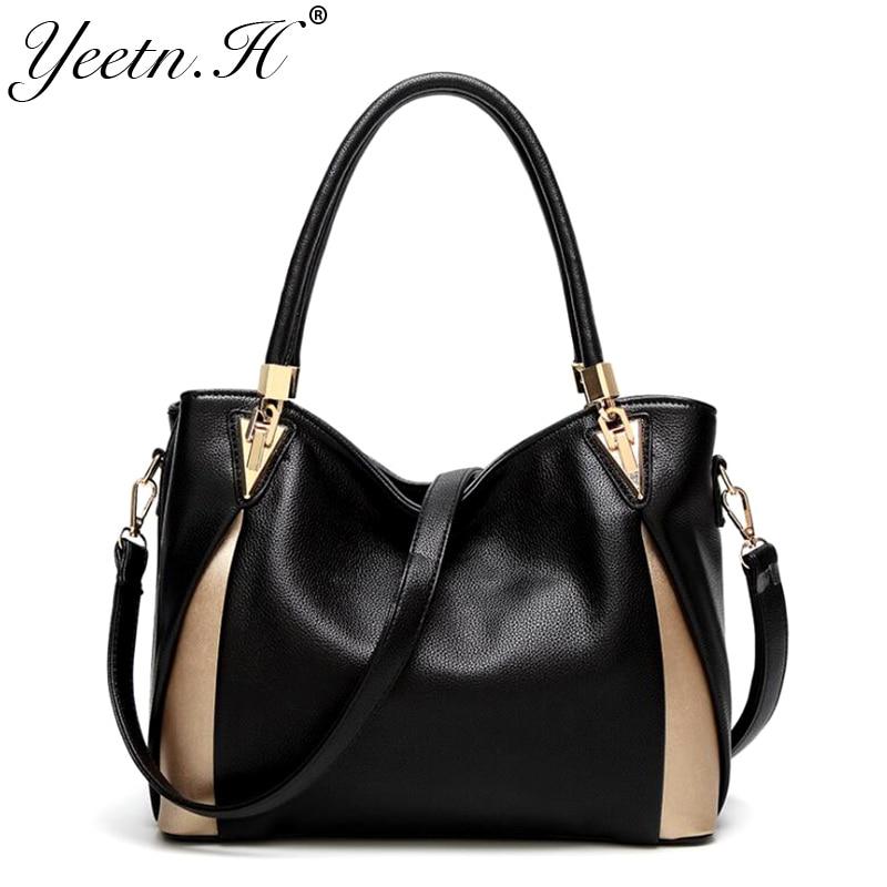 Yeetn.H fashion luxury women handbag split leather high quality female messenger bag woman shoulder bag sac a main M2267 woman bag material is a high quality varnish faux leather