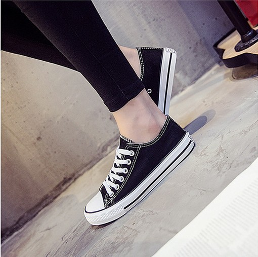 Canvas-Shoes Sneakers Vulcanizates Help for Men And Women Students Low-Basic