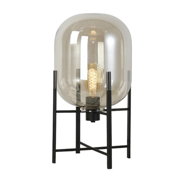 Europe Oda Pulpo Table Lamp Amber Grey Glass Shades Metal Lamp Body Desk  Light Bedsides Lamparas
