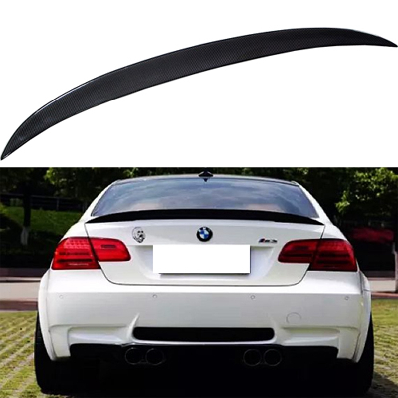P Style For BMW E92 Spoiler 3 Series 2 Door E92 M3 & E92 Coupe Carbon Spoiler Performance Style 2005 - 2012 for bmw e92 carbon fiber spoiler p style 3 series e92 & e92 m3 carbon fiber rear spoiler rear trunk wing coupe 2 door 2005 2012