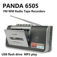Panda 6505 fm am gravador de fita de rádio usb flash drive mp3 play rádio cassete player(China)