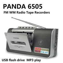 PANDA 6505 FM AM วิทยุเครื่องบันทึกเทป USB แฟลชไดรฟ์ MP3 เล่นเทปคาสเซ็ตวิทยุ
