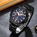 Мужские часы Curren, брендовые роскошные золотые и черные Стальные кварцевые часы, мужские Модные повседневные деловые наручные часы, мужские ...