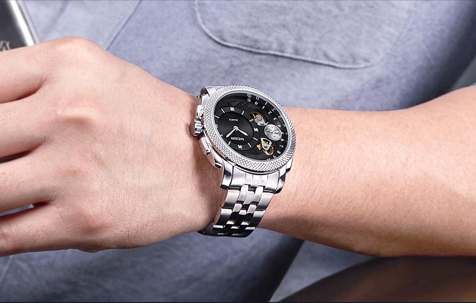 HTB1q8UHX6zuK1Rjy0Fpq6yEpFXaU MEGIR Luxury Quartz Watches Stainless Steel Military Wrist Watch