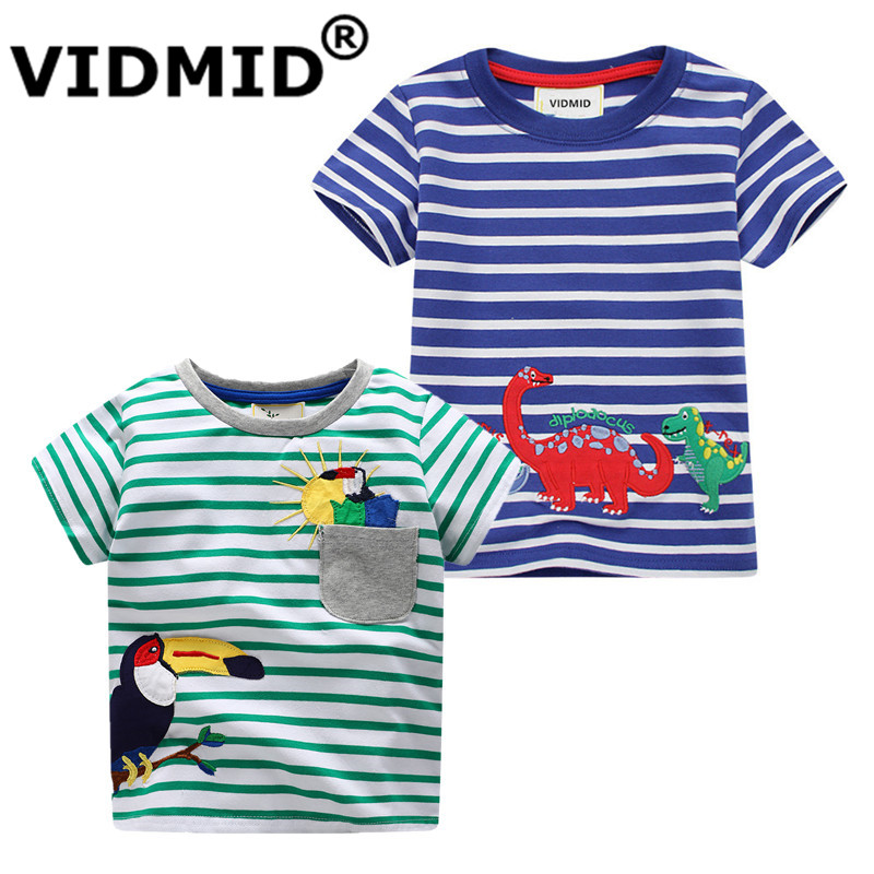 VIDMID Boys Summer short Clothes Children T-shirts Cotton Tops Kids Clothing Animal Pattern Baby Boys catroon Dinosaur T-shirts boys t shirts birthday age number print kids girls tee tops 100% cotton baby clothing boys t shirts summer clothes wua7430010