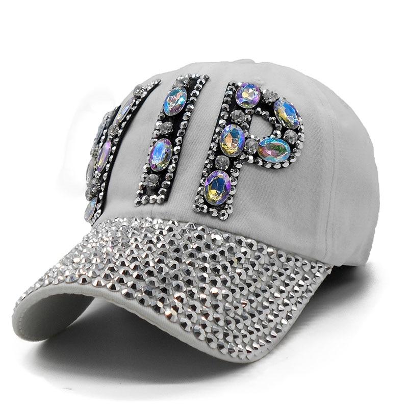 Ladies VIP Baseball Cap 2018 Women Studded Crystals Rhinestones Sequins  Snapback Hats Swag Vintage Denim Casual Sun Gorras-in Baseball Caps from  Apparel ... e83a57d329c6