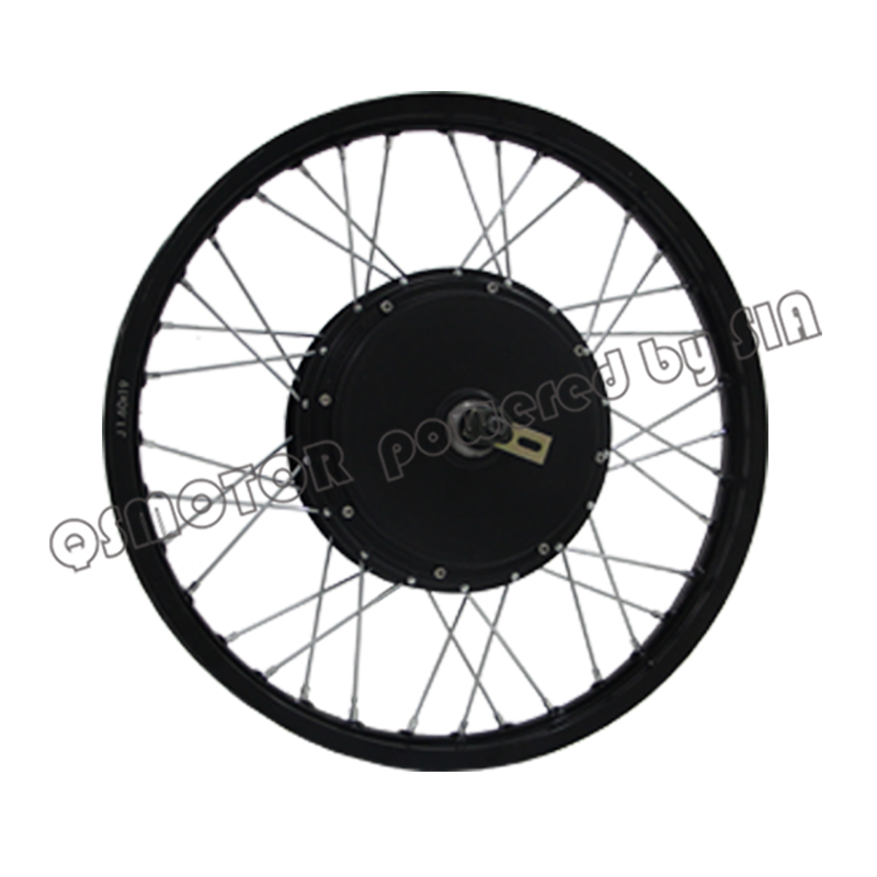 <font><b>QS</b></font> <font><b>Motor</b></font> Electric bicycle kit 3000W 10000W peak Hub <font><b>Motor</b></font> with <font><b>17</b></font>/18/19 <font><b>inch</b></font> Moped Wheel rim for electric mountain bike image