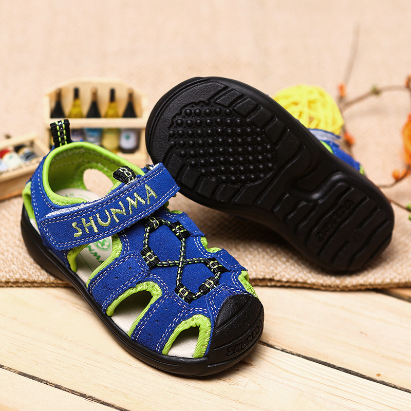 2018 New Children Shoes cow Leather Sandals Male Kids Sandals For Boys Summer Sandals Casual Comfortable Summer Beach Shoes