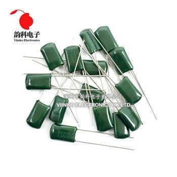 50 Uds condensador de película de poliéster 630V 1nF 1.5nF 10nF 22nF 33nF 47nF 2J102J 2J152J 2J222J 2J472J 2J682J 2J103J 2J223J 2J333J 2J473J