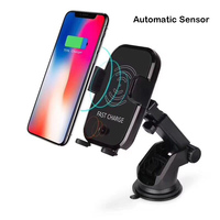 Car Mount Qi Wireless Charger For iPhone X/8 Smart Clip Fast Wireless Charging Stand For Samsung Galaxy S9/S9+ S8 Note 8