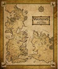 Westeros Map 50x75cm Canvas Poster