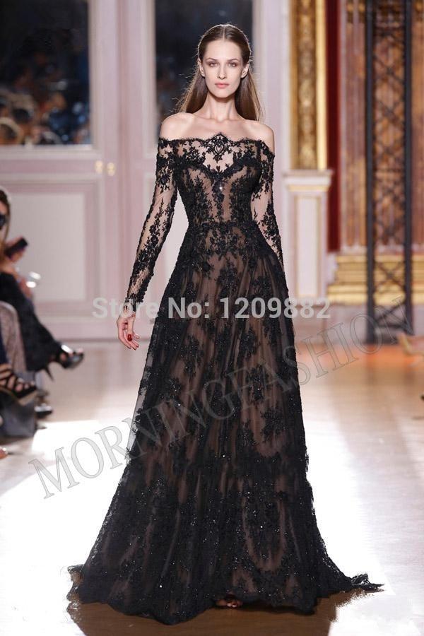 Aliexpress.com : Buy Long Sleeved Evening Dresses Uk Gold Dress ...